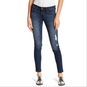 Eunina Maxwell Low Rise Skinny Distressed Jeans 5